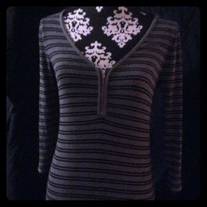 Women's long sleeve striped pullover